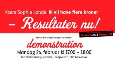 26.2.: Demonstration foran Moderniseringsstyrelsen